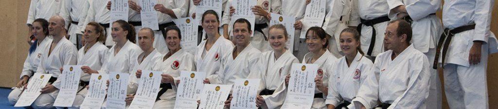 dokan karate examens geslaagdengroep dangraden